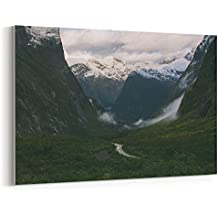Westlake Art - Canvas Print Wall Art - Mountainous Landforms on Canvas Stretched Gallery Wrap - Modern Picture Photography Artwork - Ready to Hang - 18x12in (*7x-d64-175)