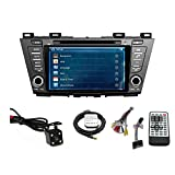 TLTek 8 inch Touch Screen Car GPS Navigation System For Mazda 5 2012-2015 DVD Player+Backup Camera+North America Map