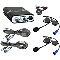 From XTR Off-Road Products, Rugged Radio 660 PLUS 2-Place Intercom System with Alpha Audio Helmet Kits