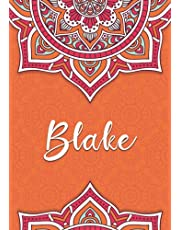Blake: Notebook A5 | Personalized name Blake | Birthday gift for women, girl, mom, sister, daughter ... | Design: colored mandala | 120 lined pages journal, small size A5 (ca. 6 x 9 inches)