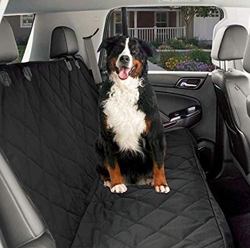Double Seat THICK CPG-CDT03 CPG DOTS Non-Slip, Dog Back Seat Cover   Durable Oxford Fabric & Polyester Pet Seat Covers   Scratch Proof Bench & Hammock Congreenible, Rear Seat Covers for Small and Large Dogs
