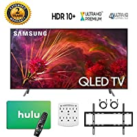 Samsung-QN65Q8FN 65 Q8FN Smart 4K Ultra HD QLED TV (2018) with 2 Year Extended Warranty + Bonus $100 Hulu Gift Card + Wall Mount Kit + More - QN65Q8F QN65Q8 65Q8F 65Q8