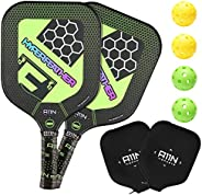 A11N HyperFeather Pickleball Paddles Set of 2 - USAPA Approved   8OZ, Graphite Face & Polymer Core, Cushio