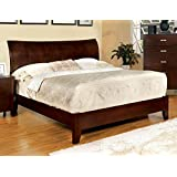 247SHOPATHOME IDF-7600Q Bed-Frames, Queen, Brown