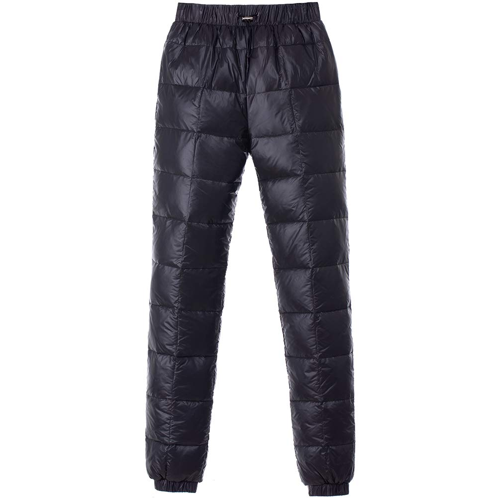 Gihuo Mens Winter Utility High Waist Down Pants Snow Trousers