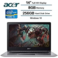 2018 Newest Flagship Acer Swift 3 Laptop, 14 LED-backlit Widescreen FHD IPS Display, 8 GB DDR4 SDRAM, 256 GB Solid State Drive, Intel Core i5-8250U Processor at 1.6GHz, Windows 10 Home