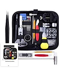 Watch Repair Kit, Watch Repair Tools Professional Spring Bar Tool Set, Watch Band Link Pin Tool Set with Carrying Case