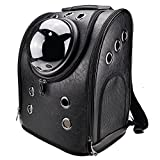 Khore Bubble Pet Carrier Backpack Small Dogs Cats Window (Black)