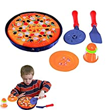 Kids Pizza Set Pizza Pie Party with Cooking and Cutting Accessories Play Set Toy for Kids