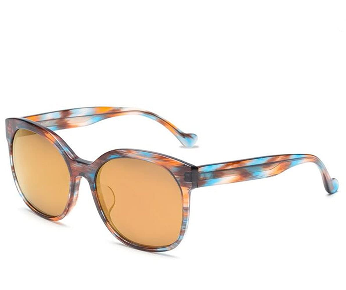 bluee orange Box tea slice SUNGLASSES New Sunglasses Imitation Wood Pattern Elegant colorful color Film Retro Sunglasses