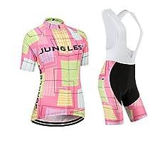 Cycling jersey Set, Maillot de Cyclisme Women Femme Short sleeve Manches Courtes(S~5XL,option:bib Cuissard,3D pad Coussin) N241