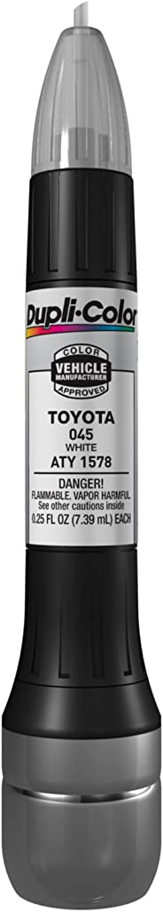 Dupli-Color ATY1578 White Toyota Exact-Match Scratch Fix All-in-1 Touch-Up Paint - 0.5 oz.