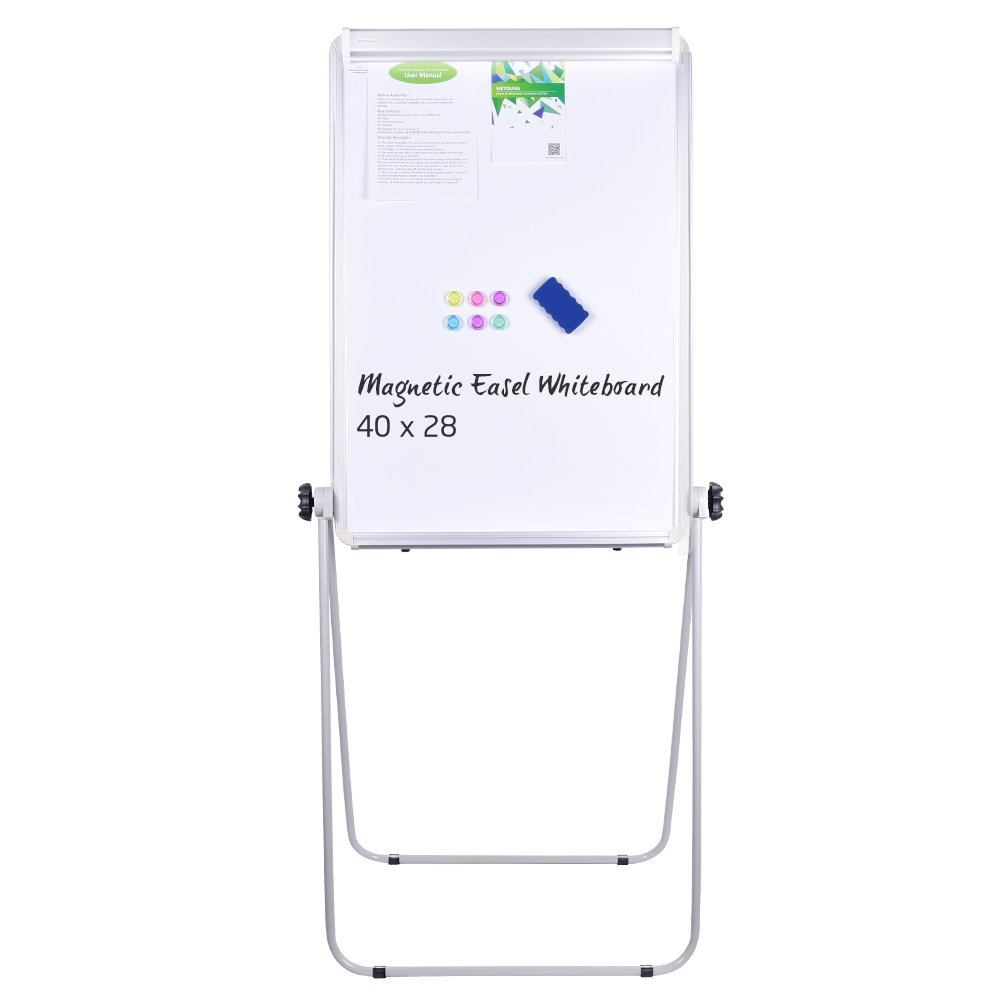 U-Stand Whiteboard - 40x28 inches Magnetic 