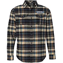 Throttle Threads Drag Specialties Mens Flannel Khaki LG