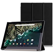 Google Pixel C Case - MoKo Ultra Slim Lightweight Smart-shell Stand Cover Case with Auto Wake / Sleep for Google Pixel C 10.2 Inch 2015 Tablet, BLACK