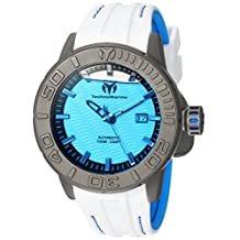 TECHNOMARINE MEN'S REEF 48MM WHITE SILICONE BAND AUTOMATIC WATCH TM-516005