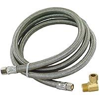 Eastman 48747 Ss Dishwasher Installation Kit, 3/8-Inch Mip Elbow