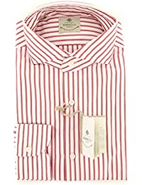 New Borrelli Red Striped Extra Slim Shirt