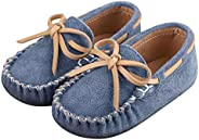 Toddler Boy's Girl's Suede Moccasin Loafers Slip on Flats Boat Shoes Soft Indoor Outdoor