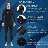 Lemorecn Wetsuits Jumpsuit Neoprene 3/2mm Full Body