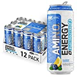 Optimum Nutrition Amino Energy + Electrolytes Sparkling Hydration Drink - Pre Workout, BCAA, Keto Friendly, Energy Powder - Ginger Ale, 12 Count