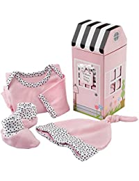 Welcome Home Baby 3-Piece Layette Gift Set, Pink, 0-6 Months