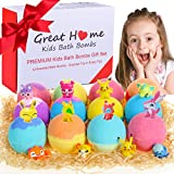 Kids Bath Bombs with Surprise Toys Inside for Kids 12 Packs Bubble Bath Fizzies Bombs Gift Set for New Year Natural Organic Bath Vegan Pokemon Bombs Kit(New Year Promotion Week)