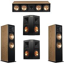Klipsch 5.0 Cherry System with 2 RF-7 III Floorstanding Speakers, 1 RC-64 III Center Speaker, 2 Klipsch RP-250S Surround Speakers