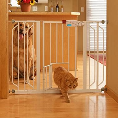 Carlson Extra Wide Walk Through Gate with Pet Door, 29 to 44-Inch