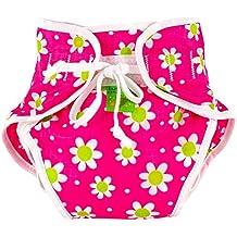 Kushies Baby Unisex Swim Diaper - Small,Fuchsia Daisy Print,Small,