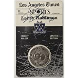 Larry Robinson Hand Signed Autographed LA Times Coin (Still Sealed) - NHL Photomints and Coins