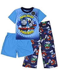 Thomas Toddler Boy's 3 Pc Pajama Sleepwear Top, Pants & Shorts