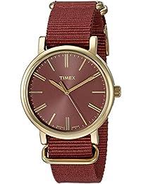 Women's TW2P78200 Originals Tonal Marsala Nylon Slip-Thru Strap Watch