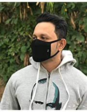 3D Anti-allergic PM2.5 Mouth Mask Fashion Dustproof Cold Virus Block Breathable Organic Sponge Face Mask Great for Summer Black