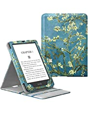"""MoKo Case Fits All-New Kindle Paperwhite 11th Generation-2021, Premium Vertical Flip Cover with Auto Wake/Sleep for Kindle Paperwhite 2021 Kids & Signature Edition 6.8"""", Almond Blossom"""