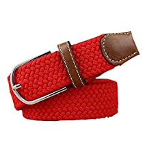 Red Braided Women Jeans/Dresses/Pants Belt Waist Band