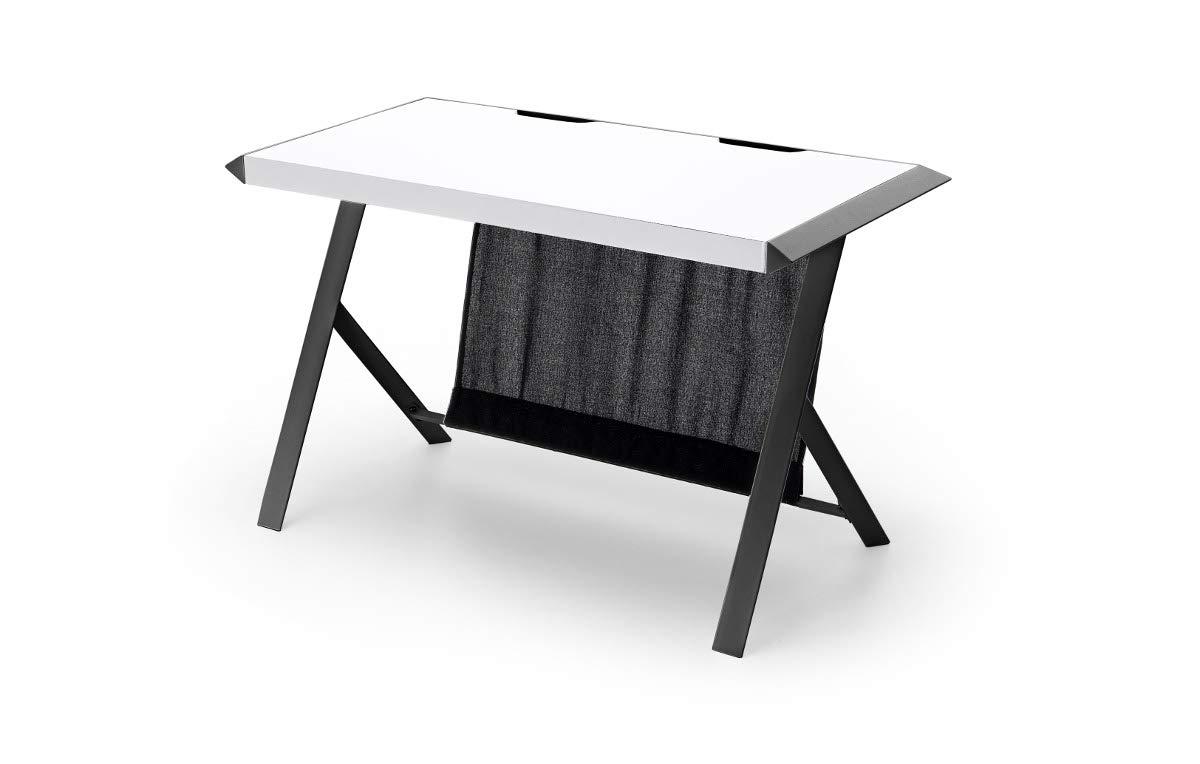 MC Racing ,Schreibtisch, MDF Weiß Schwarz, 60 x 127 x 75 cm, 40141SW4