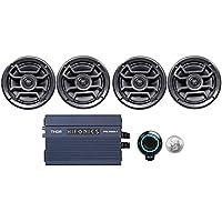 4 Hifonics TPS-CM65B 6.5 Marine Speakers+Amp+Bluetooth Control Boat/ATV/UTV/RZR