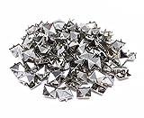 Honbay 200pcs 10mm Square DIY Leathercraft Silver