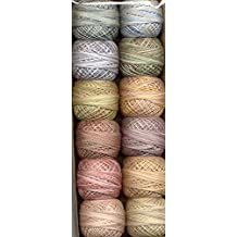 Valdani Perle Cotton Embroidery Thread Size 8 Muddy Monet Collection