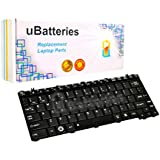 UBatteries Compatible Keyboard Replacement For Toshiba Portege M900 T130 T135 Satellite E205 U400 U405 U405D U500 U505 U505D AEBU2U00020-US 9J.N7482.E01 9Z.N1V82.B01 0KN0-VG1US01 NSK-TDB01 US