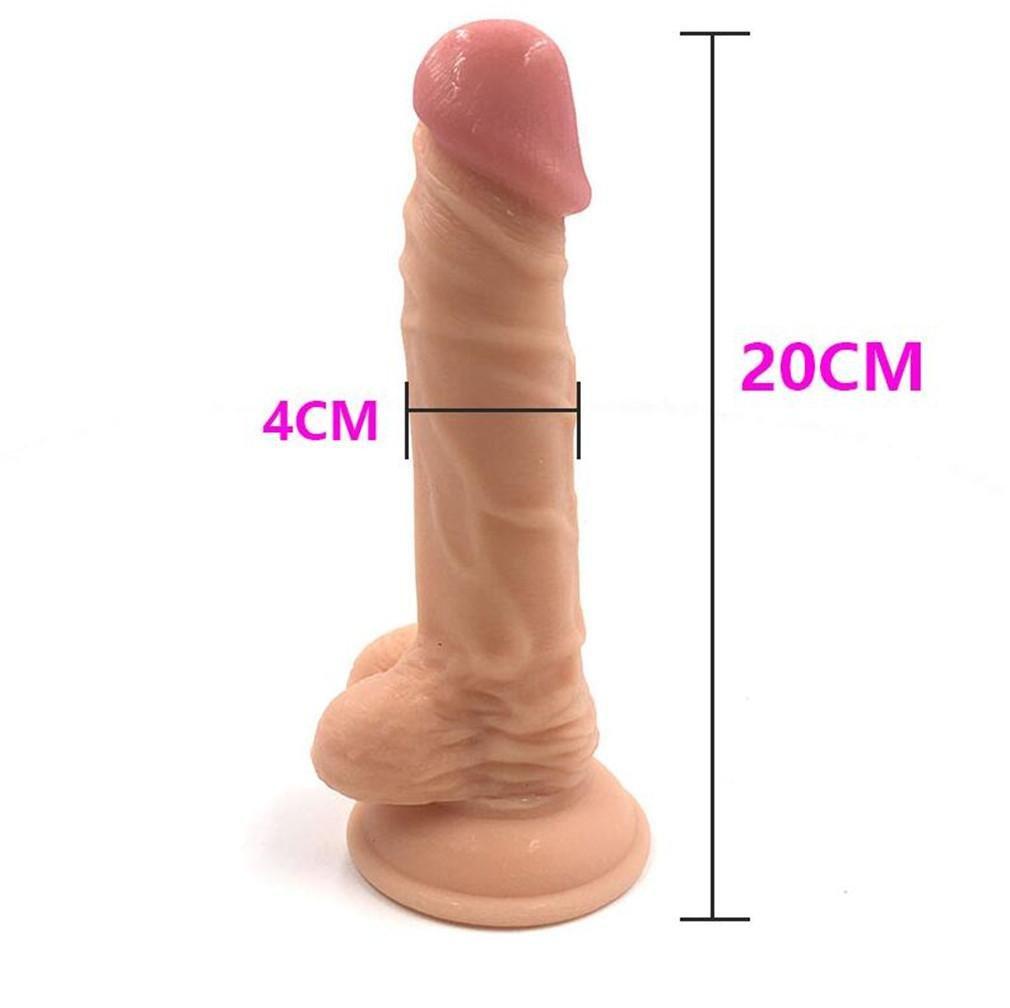 LY-JFSZ Realista Mujer(20 Silicona consolador Fuerte succión Copa Sexo Juguetes para Mujer(20 Realista * 4cm) 256e49