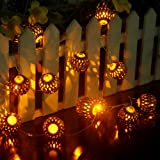 LED String Light Indoor/Outdoor,Ryham Battery Operated 4.9Ft 12LED Gold Fairy Lights Ball Curtain Lighting---Ideal Wedding, Christmas Tree,Halloween,Party,Bedroom(Yellow)
