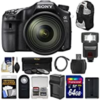 Sony Alpha A77 II Wi-Fi Digital SLR Camera & 16-50mm Lens with 64GB Card + Battery + Charger + Backpack + Flash + 3 Filters + Kit Overview Review Image