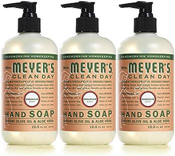 3-Pack Mrs. Meyers Clean Day Liquid Hand Soap, Geranium Scent, 12.5 Fl Oz