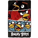Angry Birds Twin Plush Blanket Bold Colors Bed Cover