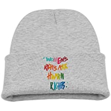 Msiiks Women's Rights are Human Rights Children's Knit Hat, Warm and Dirty Bones Hat.