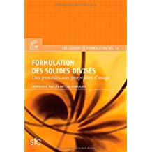 FORMULATION DES SOLIDES DIVISÉS