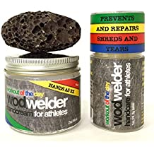 WOD Welder Hand Care Kit For Athletes - Callus Remover, Dry Skin Fix, Sore Ripped Hand Repair - Moisturizing Cream, Salve and Exfoliating Pumice - Prevents Calluses and Keeps You Lifting & Climbing