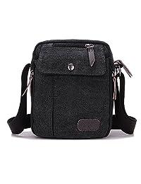 NOTAG Messenger Bag para Hombres, Canvas clásico Crossbody Bag Bolso de Mano con Correa Ajustable multifunción para Deporte al Aire última intervensión Bolsa de Hombro Casual Bolsa Antirrobo